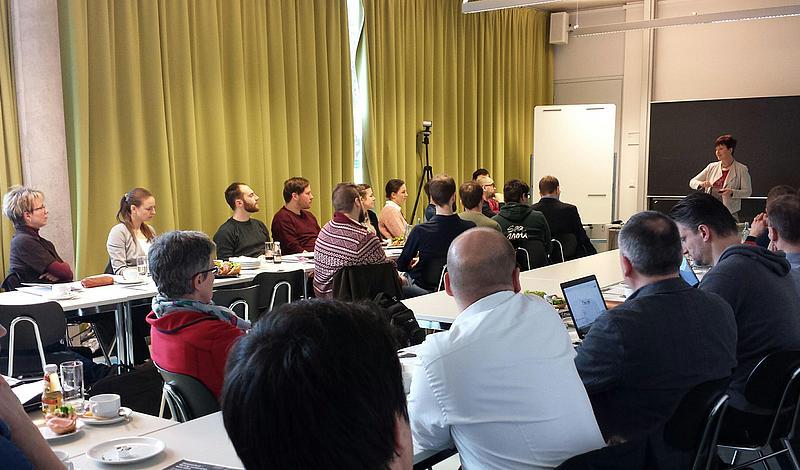 Beim 9. IMS-Frühstück stellte Frau Prof. Spangenberg neue Regelungen des Datenschutzes vor